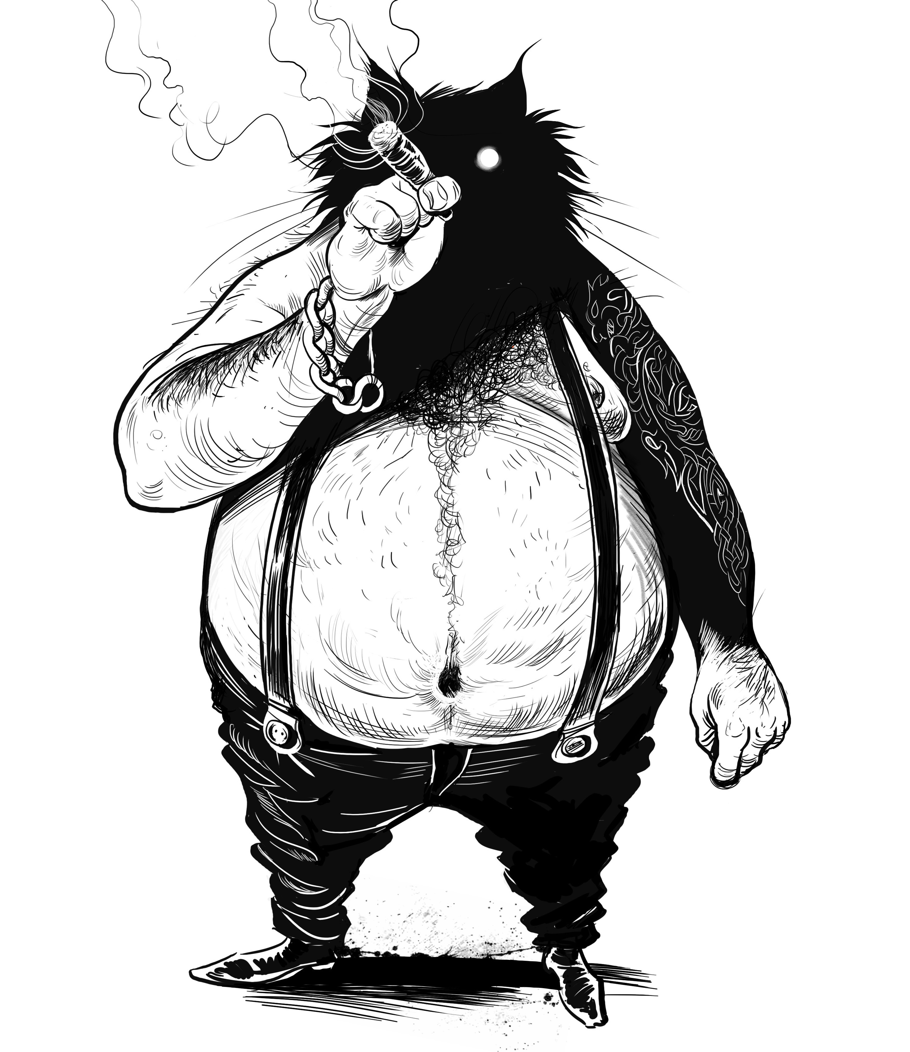 Inktober17 Fat