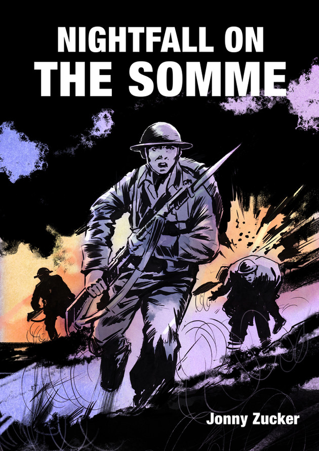 """""""Nightfall on the Somme"""" cover for Jonny Zucker."""