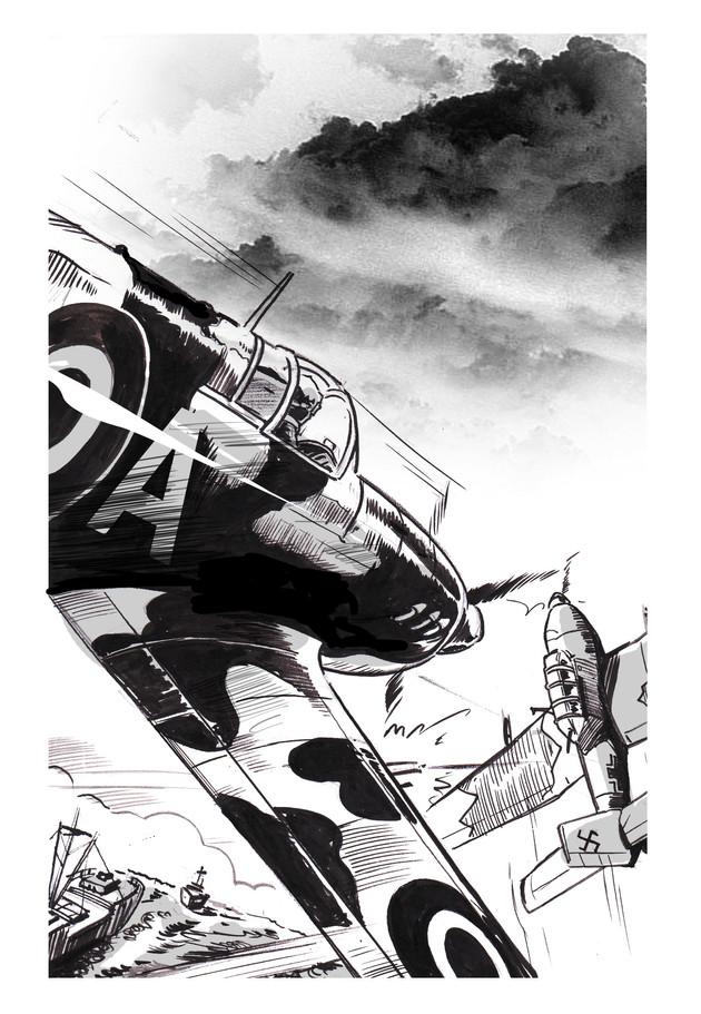 """""""Spitfire"""" by Tom Palmer."""