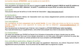 Les Programmes des Vacances d'Automne 2021 & Inscriptions