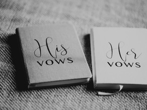 Top tips for writing your own vows