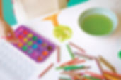 Finger Painted Place Settings