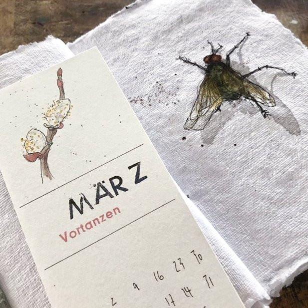 Kalenderblätter 2020- 12 verschiedene Motive- Drucke handgefertigter Zeichnungen