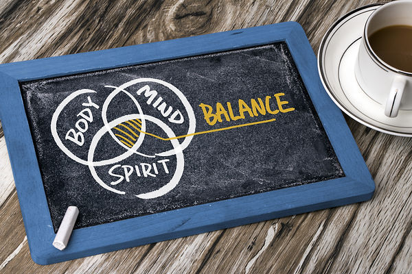 body mind spirit balance concept hand dr