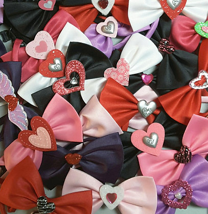 Valentine's embellished bowties set