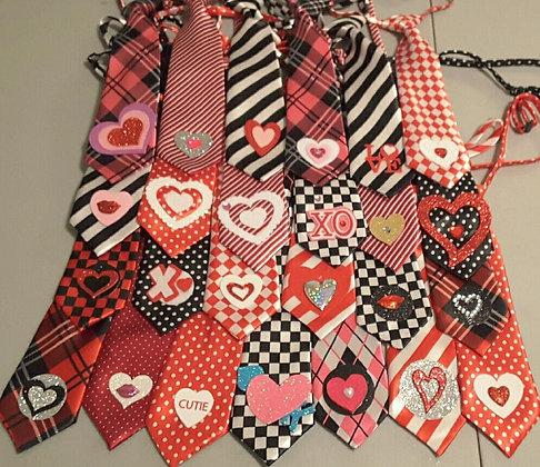 Valentine's embellished big dog neckties set