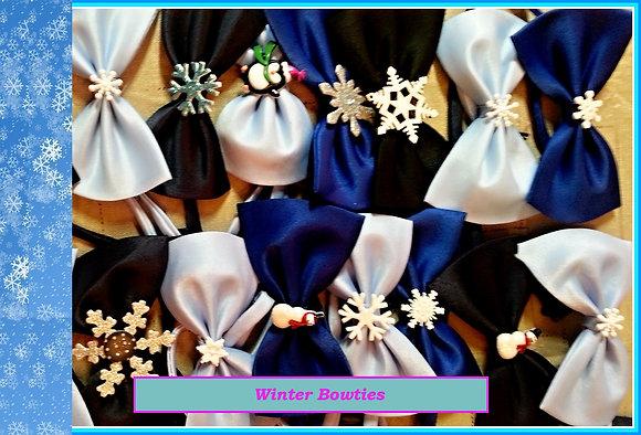 Winter theme embellished bowties set