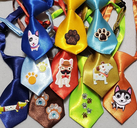Puppy embellished neckties (Set of 5)