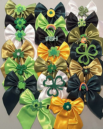 St. Patty's embellished butterfly bowties (Set of 5)