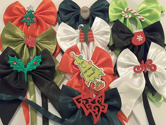 Christmas theme embellished butterfly bowties Set
