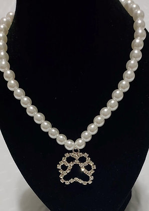 Pearl Paw Necklace