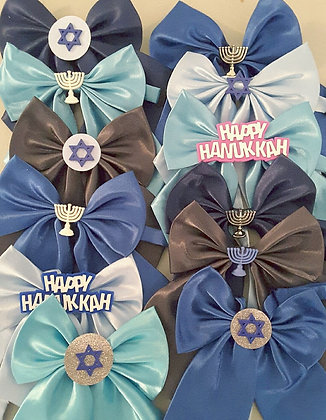 Hanukkah theme embellished butterfly bowties Set