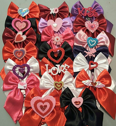Valentine's embellished butterfly bowties set