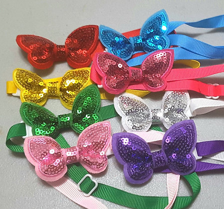 Micro Sequin Bowties (Set of 5)