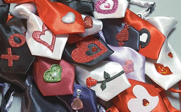 Valentine's embellished neckties set