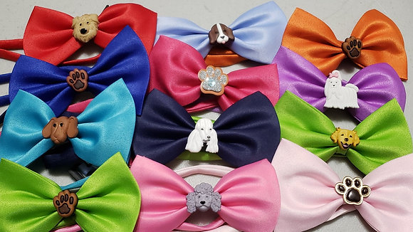 Puppy embellished bowties (Set of 5)