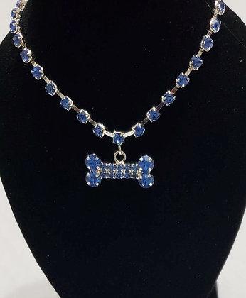 Blue Bone Necklace