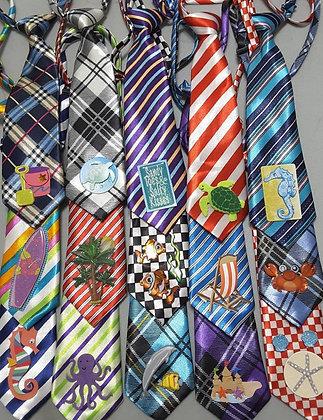 Summer/beach theme embellished big dog neckties (Set of 5)