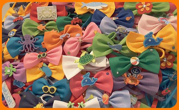 Summer/beach theme embellished bowties (Set of 5)