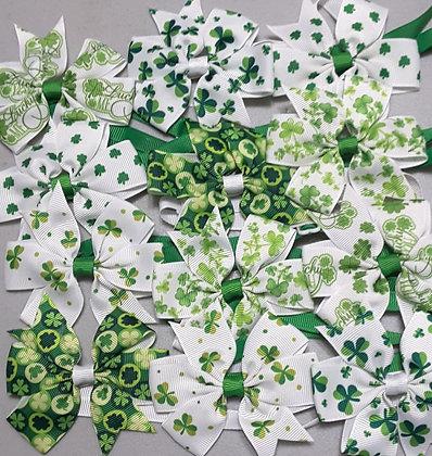 St. Patty's Print Pinwheel Bowties - LIMITED QUANTITIES (Set of 5)