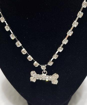Crystal Bone Necklace