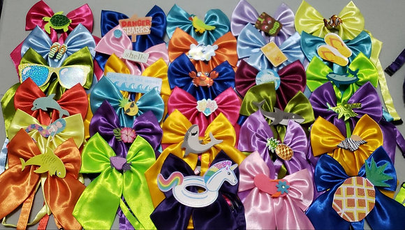 Summer/beach theme embellished butterfly bowties (Set of 5)