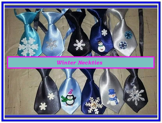 Winter theme embellished neckties set