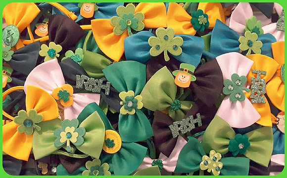 St. Patty's embellished bowties (Set of 5)