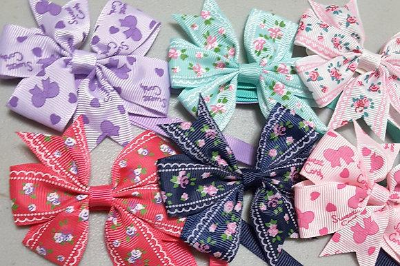 Vintage Prints Pinwheel Bowties (Set of 5)
