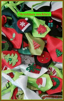 Christmas theme embellished neckties set