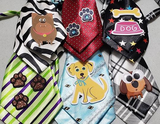 Puppy embellished medium neckties (Set of 5)