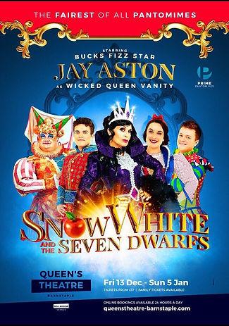 2019 Queens Theatre Barntaple pantomime.
