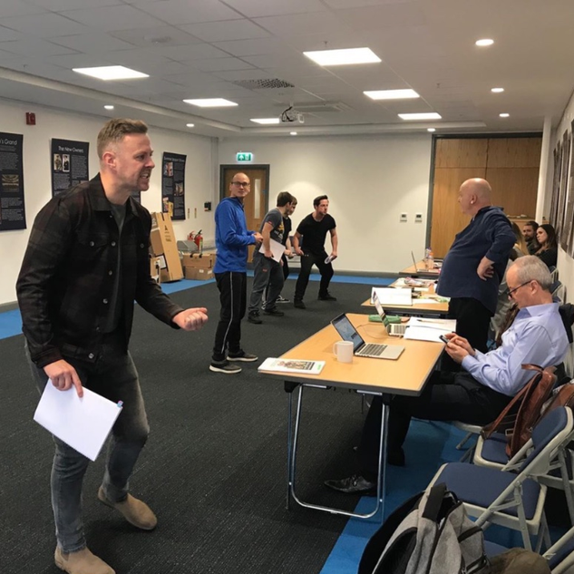2019 Tom Lister in the rehearsal room