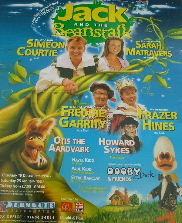 1996 Derngate Theatre Northampton panto.