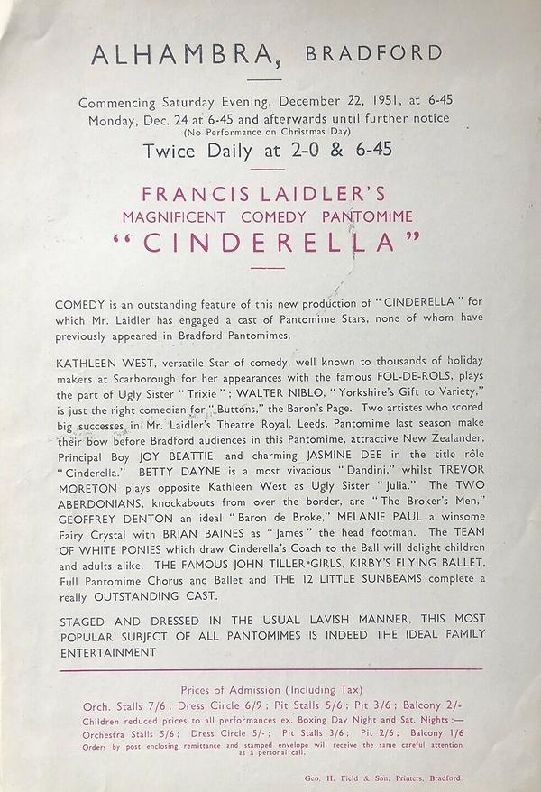1951 Cinderella Bradford Alhambra.png