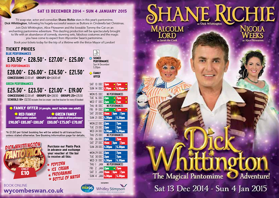 2014 Wycombe Swan Schedule.png