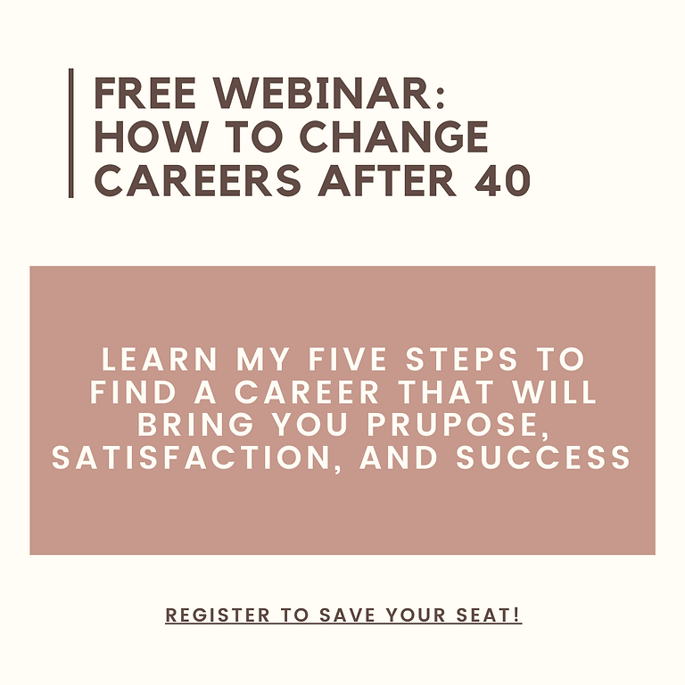 Free Training: Changing Careers After 40