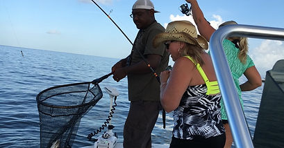 Captain Jesse Fishing with a group