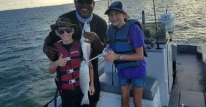 Captain Jesse fishing with kids