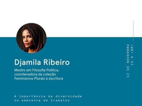 WeWork convida Djamila Ribeiro para painel online Talks By We