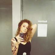Before taking the stage at Joe's Pub for The Tattooed Lady!