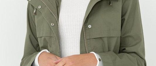 Olive Zipper Jacket