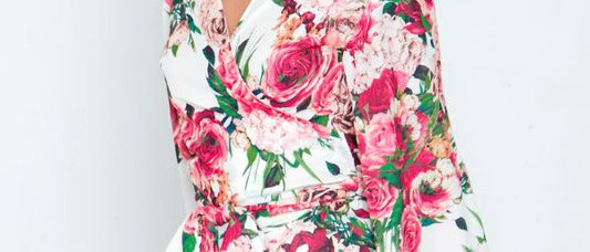 Floral Off White Top