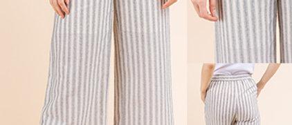 Striped Woven Pants