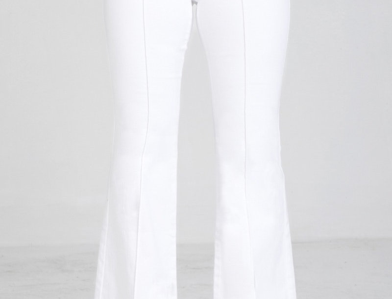 White Denim Boot Leg Pant