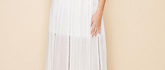 Sleevless White Dress