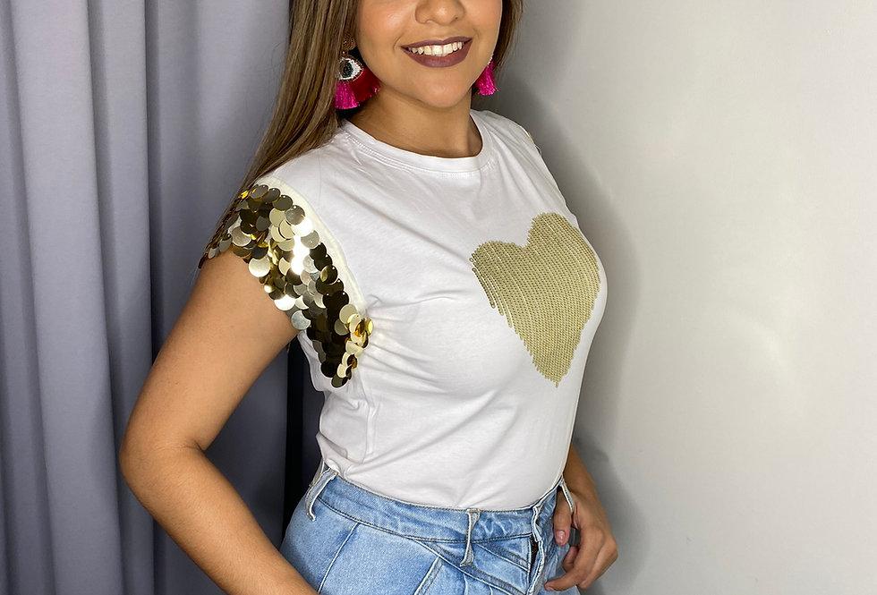 Heart Sequin T-Shirt