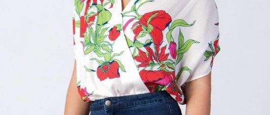 Floral Printed bodysuit