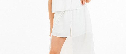 White Romper Dress