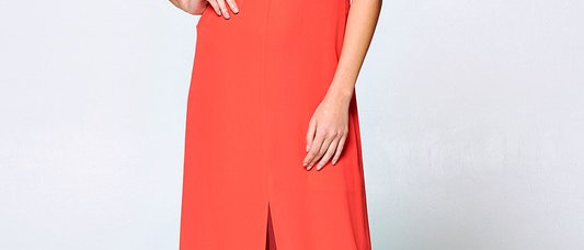 Orange Criscross Maxi Dress